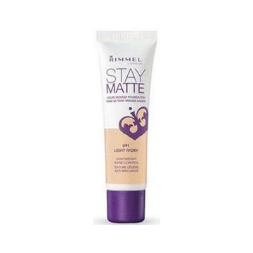 Rimmel Stay Matt Foundation New Launch - Stay Matt - Light Ivory -  034-091