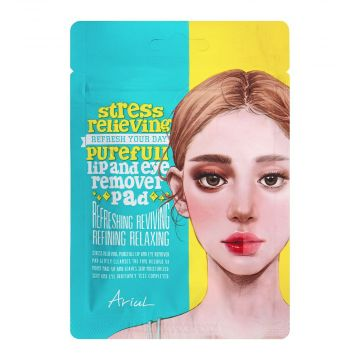 Ariul Stress Relieving Purefull Lip and Eye Remover Pad 10's - 8809301767221