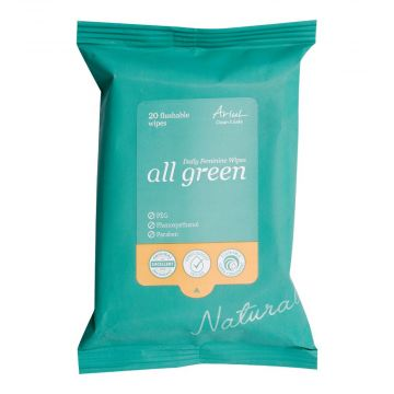 Ariul Clean & Safe All Green Daily Feminine Wipes 20's - 8809301767245