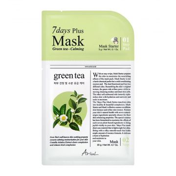 Ariul 7days Plus Green Tea Calming Mask 3g - 8809301763308