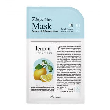 Ariul 7days Plus Lemon Brightening Care Mask 3g - 8809301763285