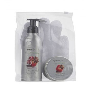 Greenland  Fruit Emotions Giftset - scrub glove, Shower Gel & body Butter  - FE0197