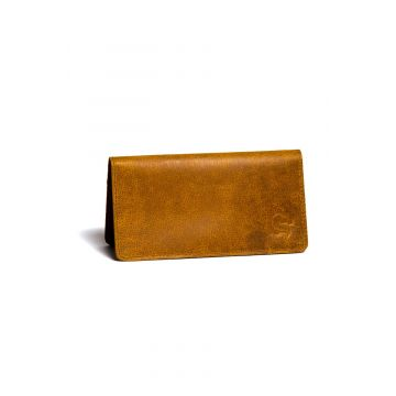 Kordovan Leather Long Wallet Mustard - 21020442