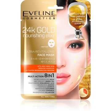 Eveline 24K Gold Revitalizing Face Sheet Mask 07-20-00017