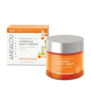 Andalou Naturals (Brightening) Purple Carrot + C Luminous Night Cream - 50ml