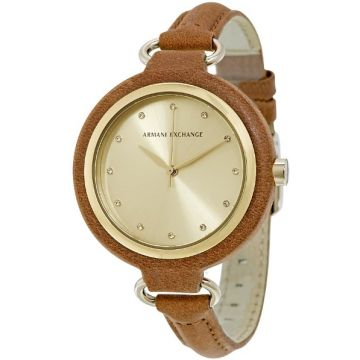 Armani Exchange Smart Gold Dial Ladies Watch - AX4236