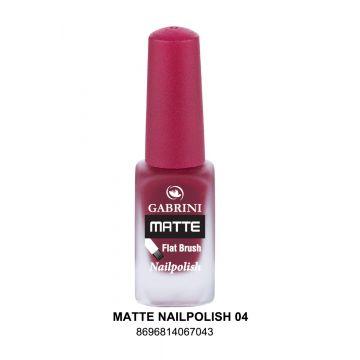 Gabrini Matte Nail Polish # 04 13gm - 10-21-00002
