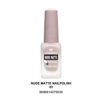 Gabrini Nude Matte Nail Polish # 03 13gm - 10-22-00003