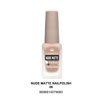 Gabrini Nude Matte Nail Polish # 06 13gm - 10-22-00006