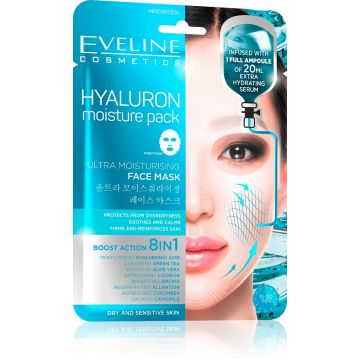 Eveline Hyaluron Moisturizing Face Sheet Mask - 07-20-00019