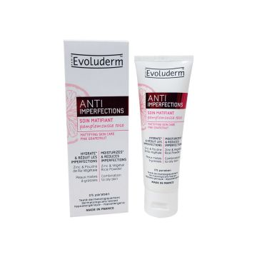 Evoluderm Anti Imperfections Mattifying Moisturizer Combination to Oily Skin - 50ml