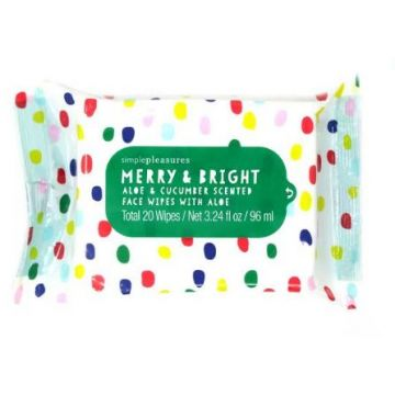 Simple Pleasures Merry & Bright Aloe & Cucumber Scented (20 wipes) - MB