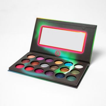 BH Cosmetics Aurora Lights - 18 Color Baked Eyeshadow Palette - J4G
