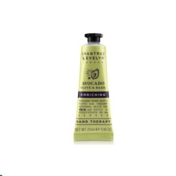Crabtree and Evelyn Avocado Olive And Basil Enriching Hand therapy - 25ml  - MB