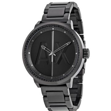 Armani Exchange AX1365 ATLC Black Dial Black Ion-plated Stainless Steel Men's Watch