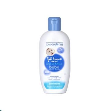 Evoluderm Baby Hair And Body Wash - 250ml