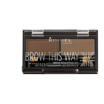 Rimmel Brow This Way Pallet - Dark Brown 034-003 - 3607344535044
