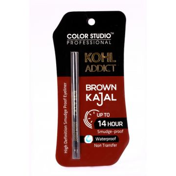 Color Studio Professional Kohl Addict Brown Kajal 14 Hour WaterProof
