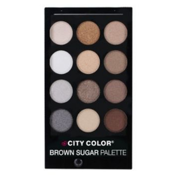 City Color CITY Brown Sugar Eye Shadow Palette - 12 Shades