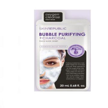 Skin Republic Bubble Purifying + Charcoal Face Mask - Single Sheet SR020