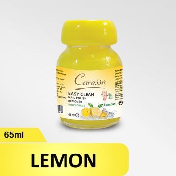 Caresse Easy Clean Nail Polish Remover – Lemon - 65ml