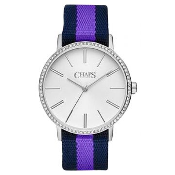 Chaps Whitney Navy & Purple Grosgrain Ladies Watch - CHP1015