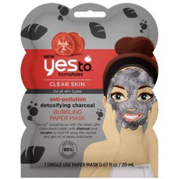 Yesto Clear Skin Anti Pollution Detoxifying Charcoal Bubbling Paper Mask - 1 Single Use