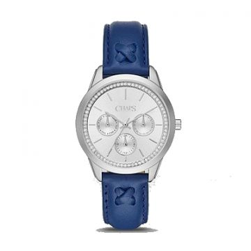 Chaps Navy Blue/Silver Analog Ladies Watch - CHP1005