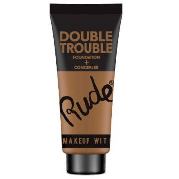 Rude Double Trouble Foundation + Concealer - 87939 Cocoa