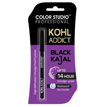 Color Studio Professional Kohl Addict Black Kajal 14 Hour Water