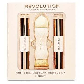 Makeup Revolution Crème Highlight and Contour Kit - Medium