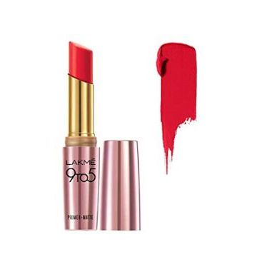 Lakme 9-5 Primer Matte Lip Color- MR 19 Crimson Cue