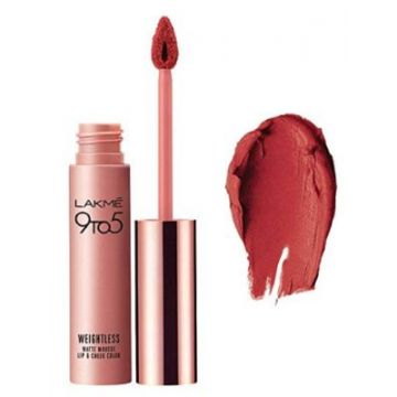 Lakme 9-5 Liquid Lip Color - Crimson Silk - 9g