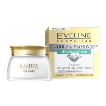 Eveline 24K Gold & Diamonds Day Cream + Serum 50ml