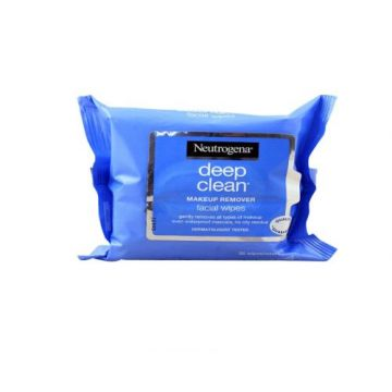 Neutrogena Makeup Remover, Facial Wipes, Deep Clean Pack 25 Wipes - 3574660531497