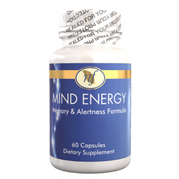 Natural Fervor Vitamin Mind Energy For Active Minds, Memory & Alertness - 60 Tablets