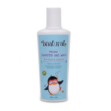 Bnatural Shampoo & Wash for Babies & Kids With Argan & Jojoba Oil - 200ml