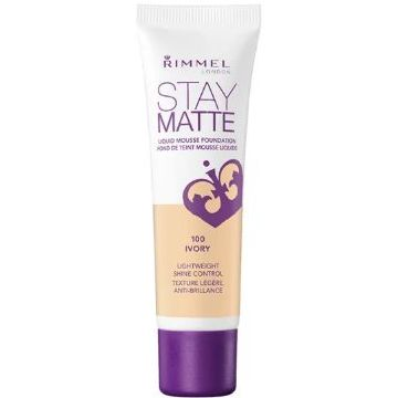 Rimmel Stay Matt Foundation New Launch - Stay Matt -  Ivory -  034-100