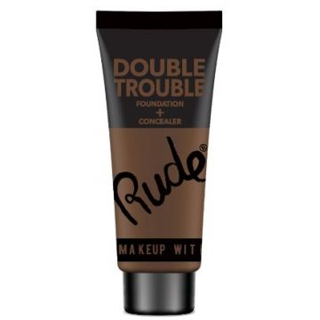Rude Double Trouble Foundation + Concealer - 87934 Espresso