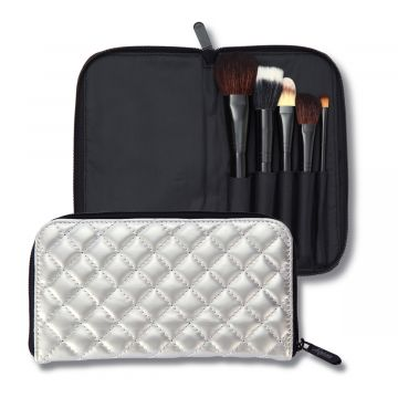Luscious Ultimate Face Case 5 pc Makeup Brush Set