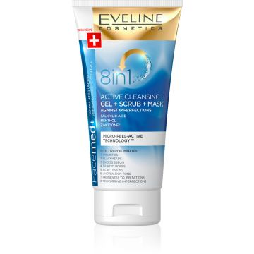 Eveline Facemed+ Cleansing Gel + Scrub + Mask 150ml - 07-26-00009