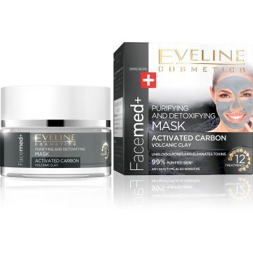 Eveline Facemed+ Activated Carbon Mask 50ml - 07-26-00003