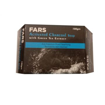 Fars Activated Charcoal Soap - 100gm
