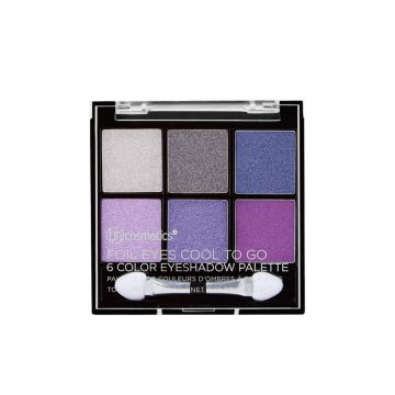 BH Cosmetics Foil Eyes Cool To Go 6 Color Eyeshadow Palette