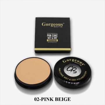 Gorgeous Beauty UK Pancake Foundation - 02 Pink Beige