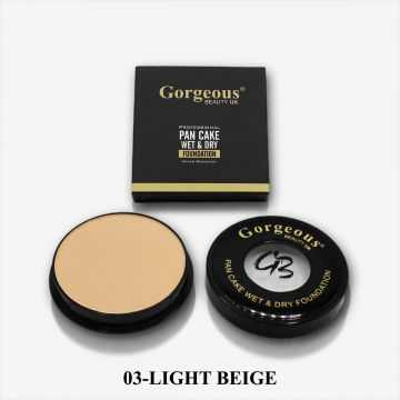 Gorgeous Beauty UK Pancake Foundation - 03 Light Beige