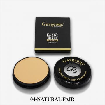Gorgeous Beauty UK Pancake Foundation - 04 Natural Fair