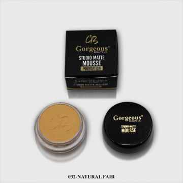 Gorgeous Studio Matte Mousse Foundation - 032 Natural Fair