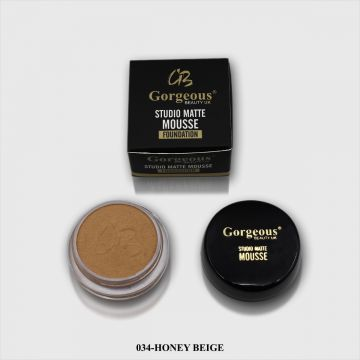 Gorgeous Studio Matte Mousse Foundation - 034 Honey Beige