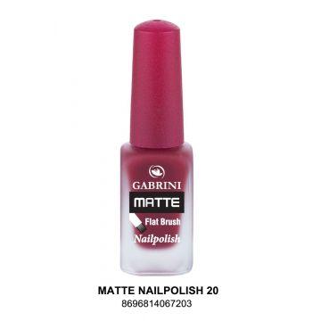 Gabrini Matte Nail Polish # 20 13gm - j4g